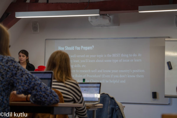 RIMUN training sessions prepare students for intense debates this weekend. Photo: Idil Kutlu