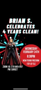 Brian S. Celebrates 4 Years Clean! @ The Last Connection | Naples | Florida | United States