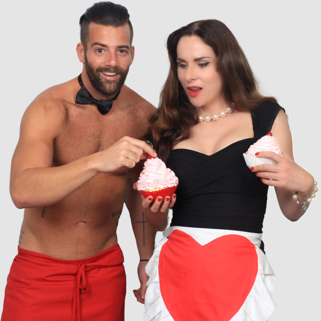 Babe Scott from Instant Hotel makes strawberry cupcakes