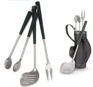 bbq golf grill tools, unique golfer gift, golf grilling
