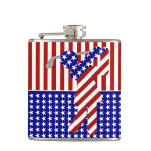 american woman golf flask