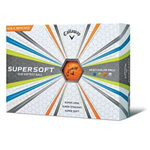 callaway supersoft multi color golf balls