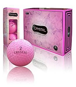 crystal ladies pink golf balls