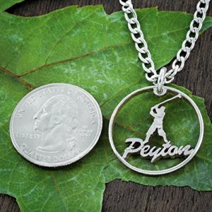 handmade cut quarter personalized golf gift