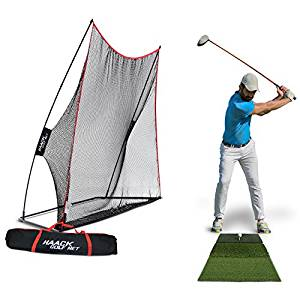 portable golf driving range net and turf