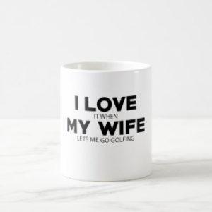 funny golf gift for husband, humorous golf mug