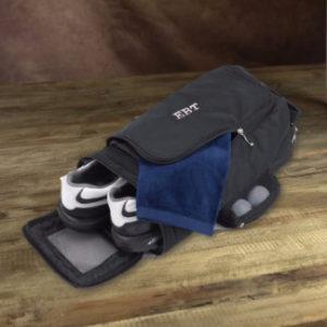 monogrammed golf shoe bag