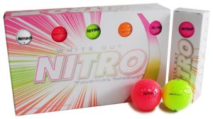 nitro multi color golf ball 15 pack