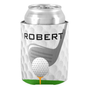 personalized golf beer can koozie