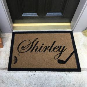 personalized golf doormat