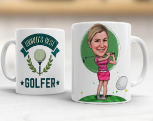 personalized womens golf coffee mug