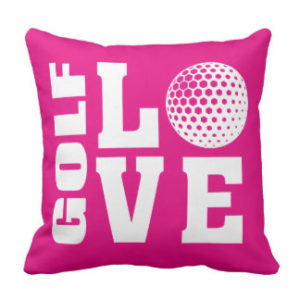 pink pillow gift for golf lover
