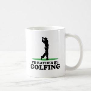 id rather be golfing mug, fun golf gift