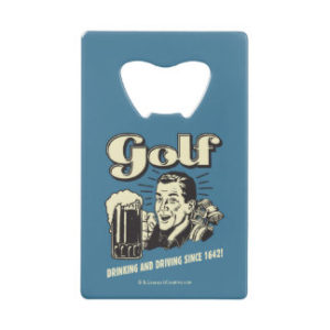 funny golf gifts, retro golf bottle opener