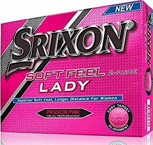 srixon soft feel lady golf balls pink