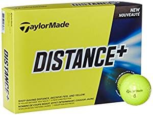 taylor made distance plus golf balls yellow