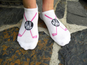 womens personalized golf socks 3 pair