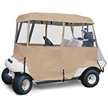 fairway deluxe golf cart enclosure, golf cart weather cover, golf rain gear