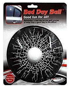 broken window golf ball car sticker, golf gag gift, funny gift for golfers