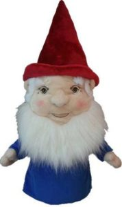 funny gnome golf club headcover, gnoem golf head cover, gnome headcover for driver