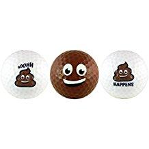 golf gag gift poop golf balls, poop emoji golf gag gift