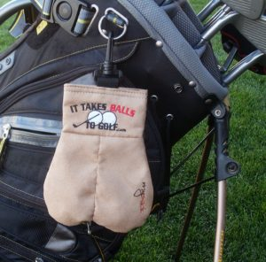 mysack funny golf ball pouch, great gag gift for golfers