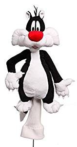 sylvester golf club head cover, looney tunes golf headcover, sylvester cat golf head cover