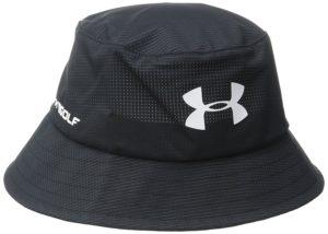 under armour golf bucket hat, golf rain gear, rain hat for golfers