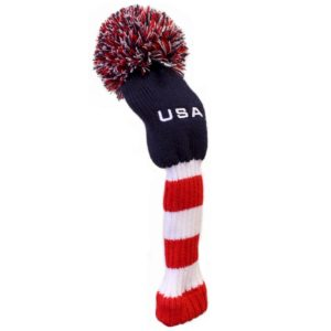 usa knit golf club headcover, patriotic knit golf head cover