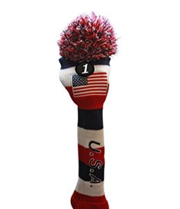 usa knit golf headcover, america golf head cover