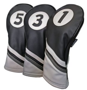 vintage leather golf club headcovers, classic leather golf head covers
