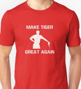make tiger great again red t shirt, funny tiger woods shirt, funny golf shirt