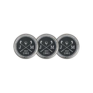 custom monogram golf ball markers, monogrammed golf ball markers