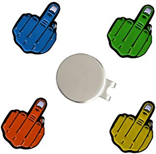 funny golf ball markers, middle finger golf ball marker set
