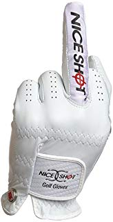 funny golf glove, nice shot middle finger golf glove