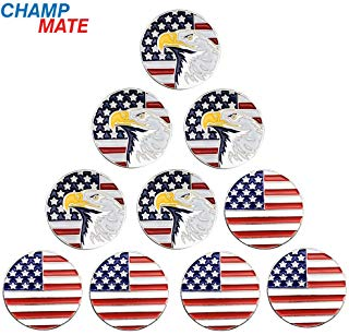 patriotic america golf ball markers, proud american golf ball markers