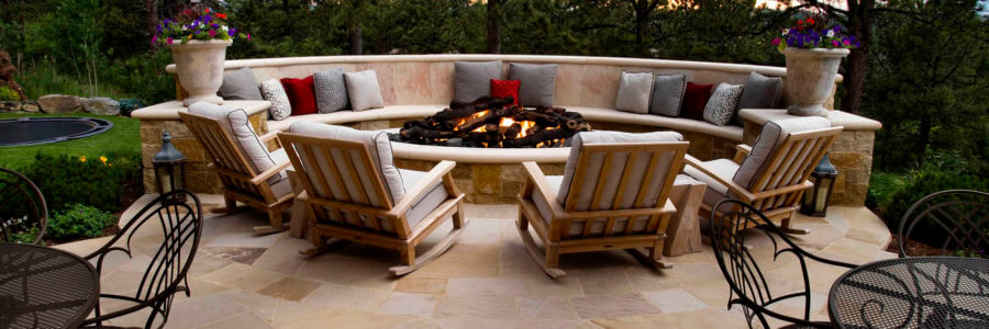 Enjoy outdoor living all year long with a custom fire feature.