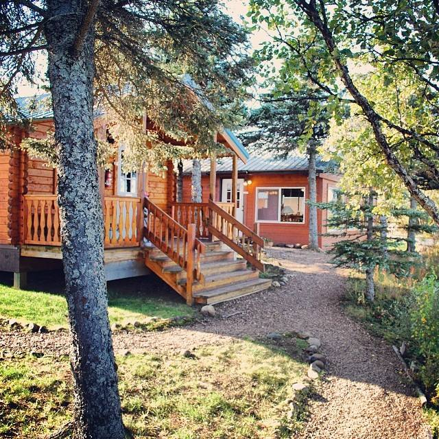 Luxury fishing lodge cabins