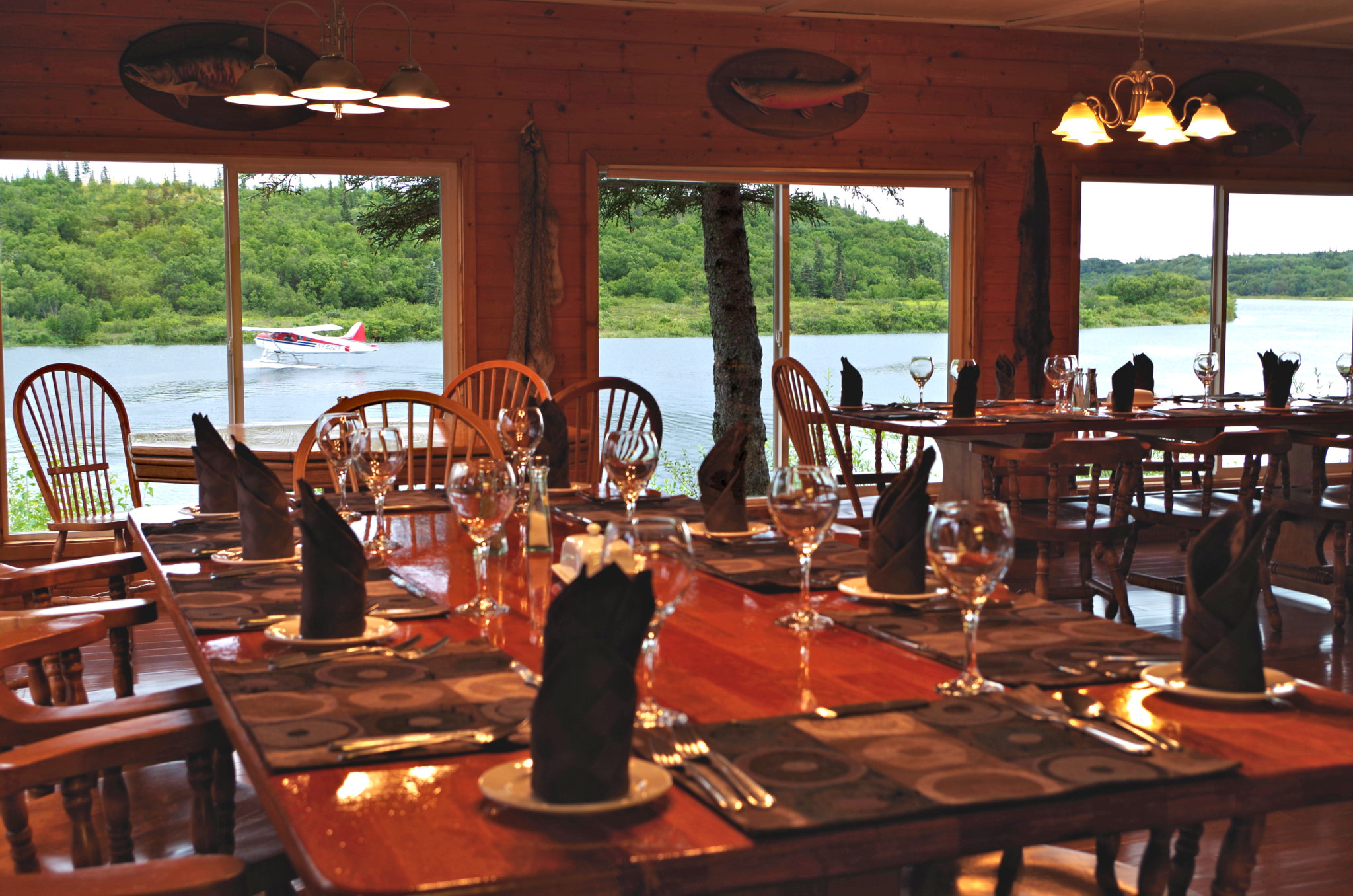 View of the river while eating