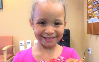 pediatric prosthetic eye patient