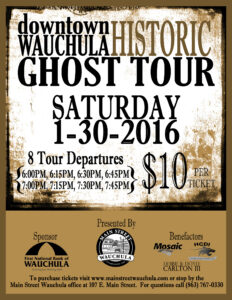 Historic Ghost Tour Flyer