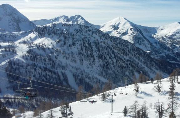 skiing near Nice