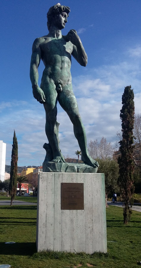 walking tour of public art - david replica