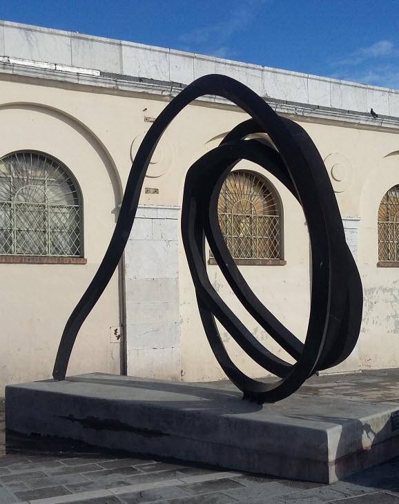 walking tour of public art - undefined lines