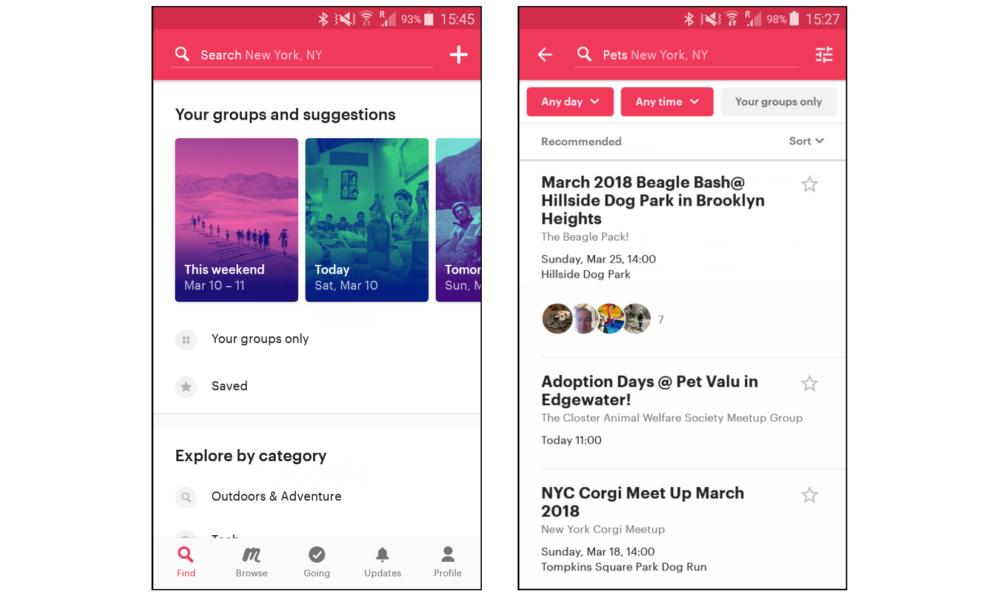 top travel apps - Meetup.com