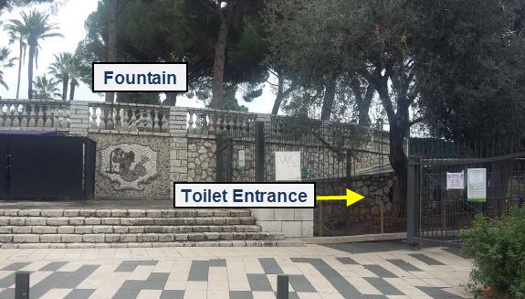 public toilet Three Graces Fountain
