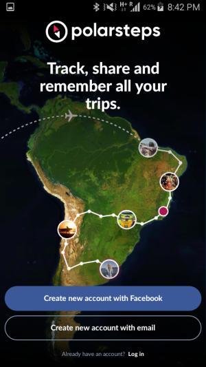 Polarsteps app homepage