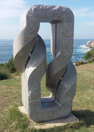 bondi to coogee coastal walk - twice twist bands sculpture