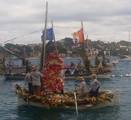 Villefranche-sur-mer Naval Flower Battle boats