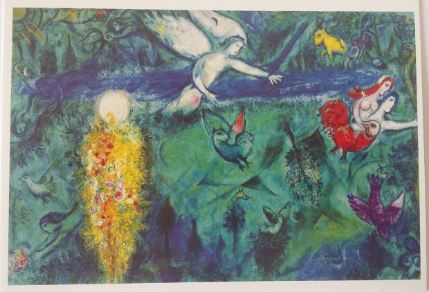 Adam and Eve expelled from Paradise (1961), Chagall Museum, Nice